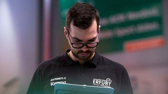 Trainer Florian Voelker - Schwarz-Weiss-Erfurt