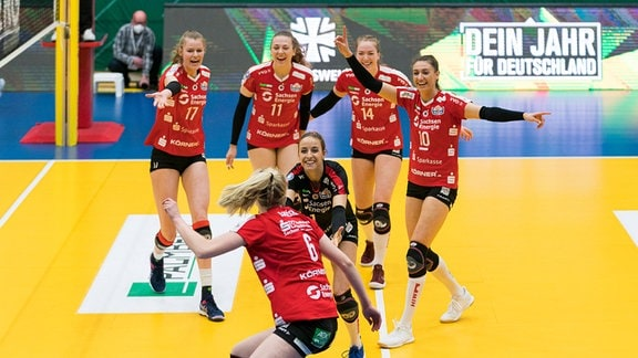 Dresdner SC, Jubel nach Punktgewinn