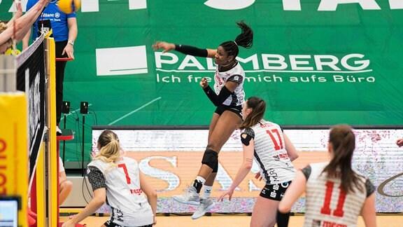 1. Frauen Volleyball Bundesliga - Playoffs, SSC Palmberg Schwerin vs. VfB Suhl