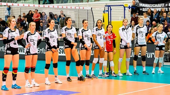 Volleyball Schwarz-Weiß Erfurt