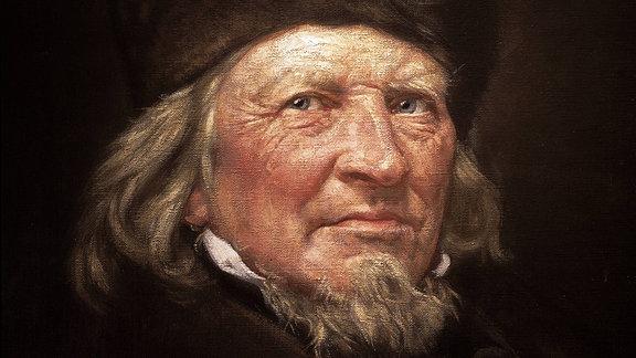 Porträt des Dichters Hoffmann von Fallersleben