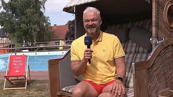 Wettermoderator Frank Hunber