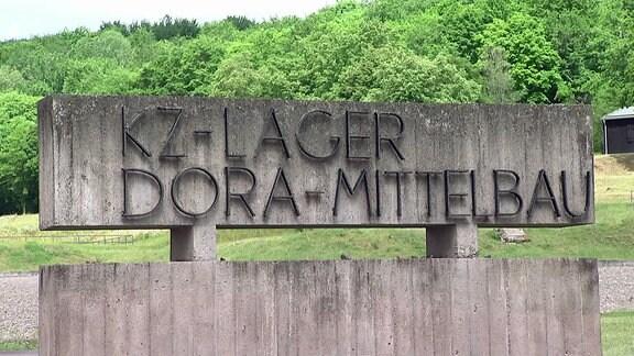 Der Eingang der KZ-Gedenkstätte Dora-Mittelbau.