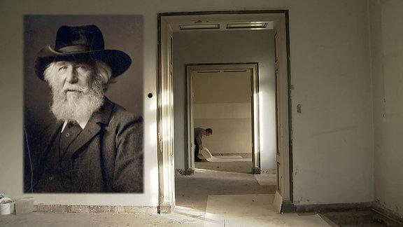 Restaurierungsarbeiten im Haeckel-Haus