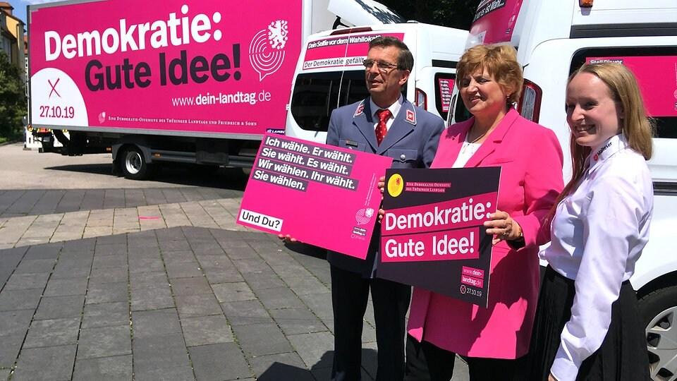 Thüringer Kampagne zur Landtagswahl gestartet