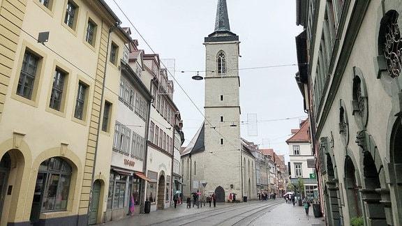 Allerheiligenkirche in der Erfurter Marktstraße.