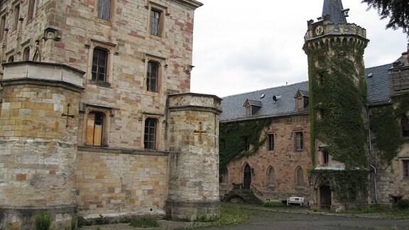 Schlosshof von Schloss Reinhardsbrunn