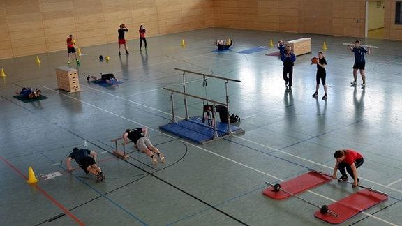 Die Sporthalle im Bildungszentrum der Thüringer Polizei in Meiningen