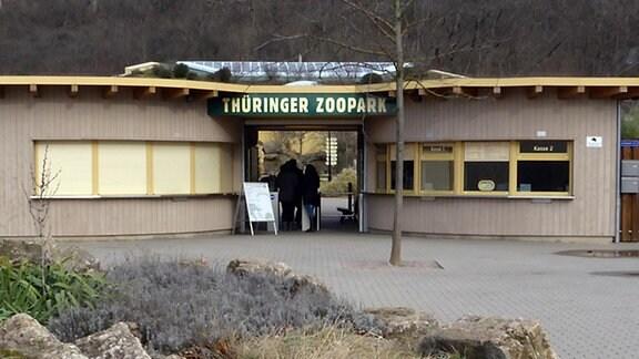 Der Eingang des Zoopark Erfurt