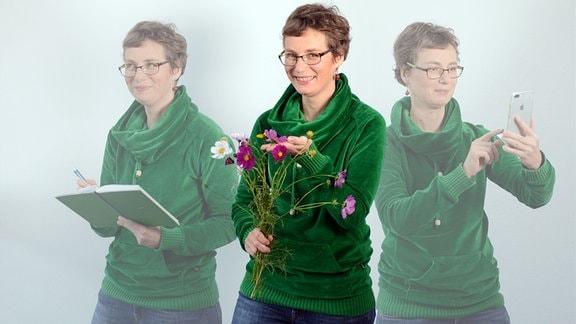 Porträt-Collage Online-Redakteurin Dörthe Gromes