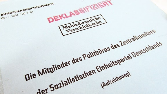 BND-Akte Politbüro