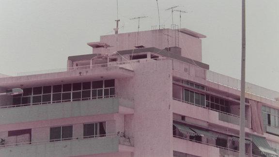Ein Gebäude in Beirut im Libanon