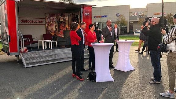 Wahlkampfabschluss der SPD mit Spitzenkandidat Wolfgang Tiefensee in Gera
