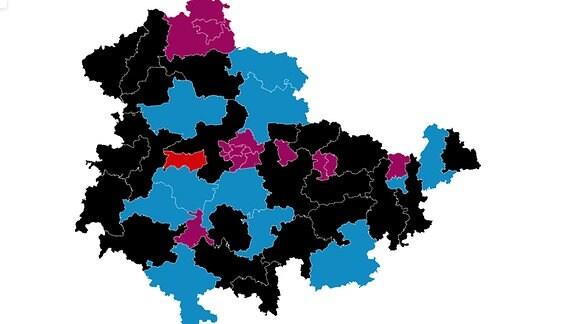 Wahlkreise Landtagswahl Thüringen