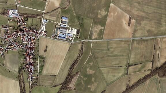 Luftbildaufnahme von Beberstedt
