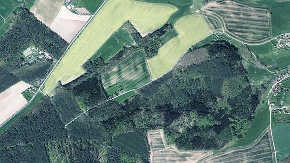 Luftbild Schafpreskeln
