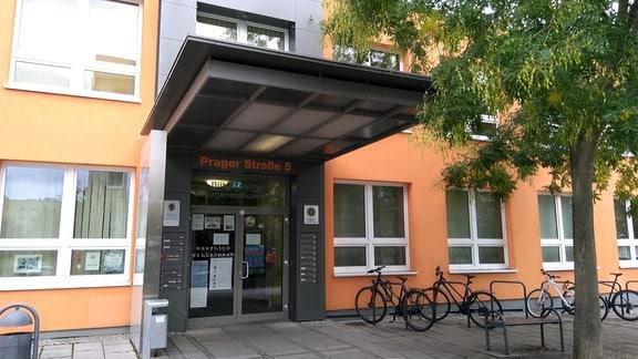 Der Eingangsbereich des Mehrgenerationenhaus in Weimar.
