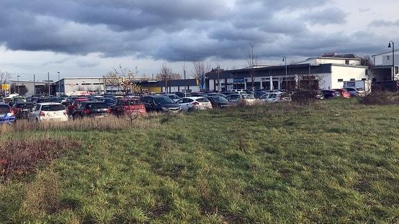 Ein Parkplatz am Ringelberg in Erfurt