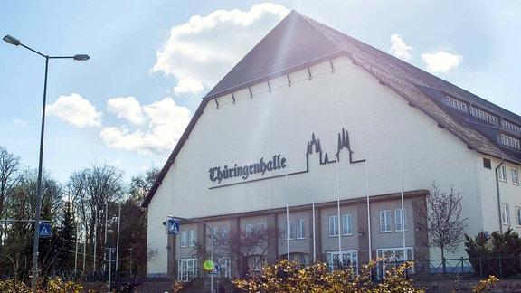 Die Thüringenhalle in Erfurt.