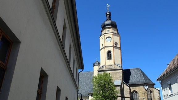 die Kirche und das Rathaus von Buttstädt