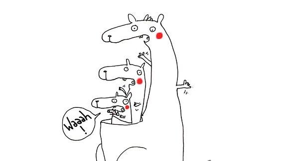 Mutmach-Grafik Känguru