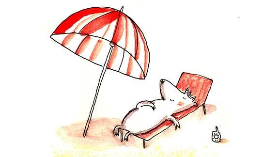 Mutmach-Grafik Sonnenschirm