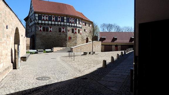 Innenhof Burg Scharfenstein im Eichsfeld