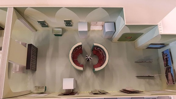Ein Pappmodell eines Zukünftigen Raumes des Eichsfeldmuseums