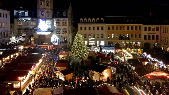 Blick auf den Märchenmarkt 2019 in Gera