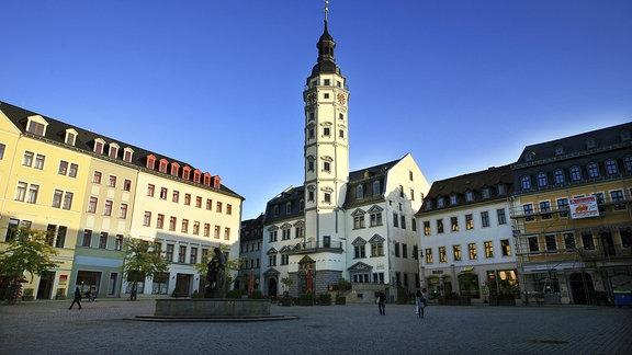 Marktplatz und Rathaus von Gera