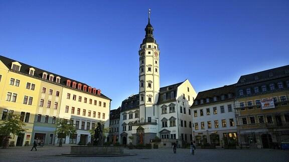 Marktplatz und Rathaus in Gera