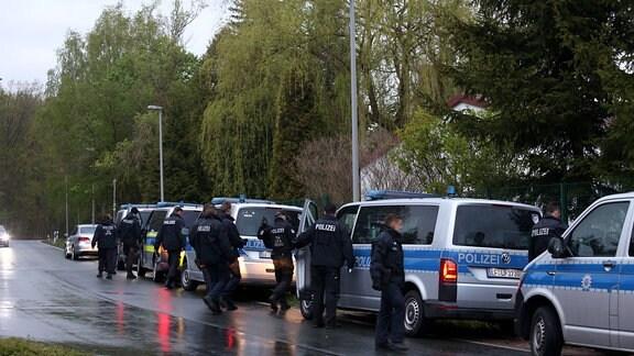 Einsatz der Polizei in Auma-Weidatal im Landkreis Greiz