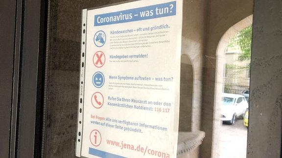 Hinweise - Verhaltensregeln Corona - im Schulgebäude.