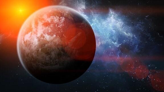 Unbekannter Planet im Weltraum