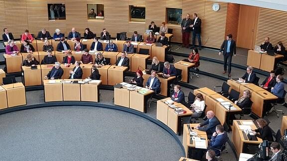 Plenarsaal im Thüringer Landtag zur Ministerpräsidentenwahl