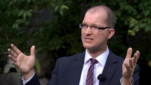 DR-Sommerinterview  mit Stefan Möller, AfD-Landessprecher mit Susann Reichenbach