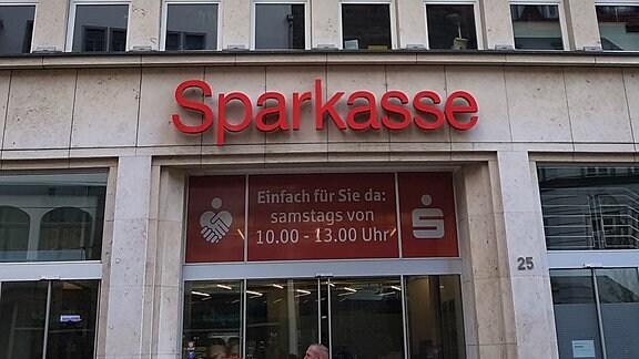Der Hauptsitz der Sparkasse Mittelthüringen in Erfurt