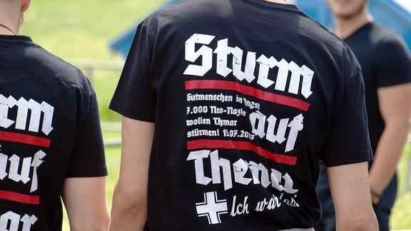 Ein T-Shirt mit der Aufschrift: Sturm auf Themar