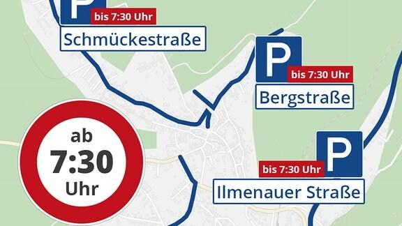 Rennsteiglauf 2019 parken in Schmiedefeld
