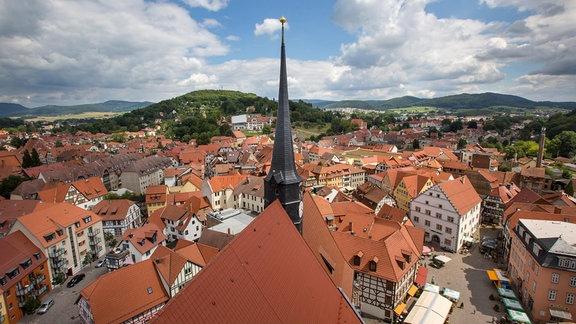 Die Altstadt von Schmalkalden von oben