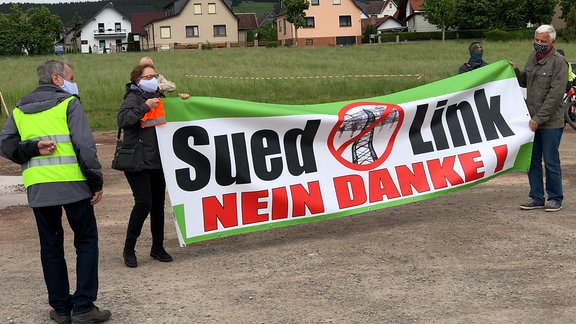 Demo Südlink Fambach 2020