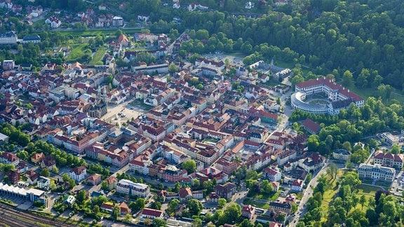 Luftaufnahme von Meiningen
