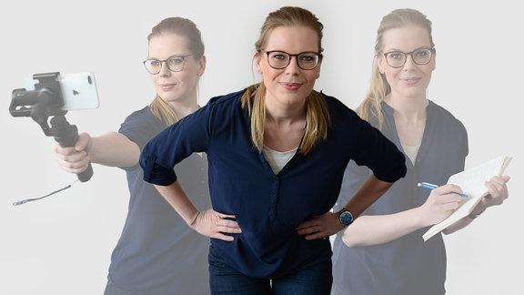 MDR THÜRINGEN-Reporterin Isabelle Fleck