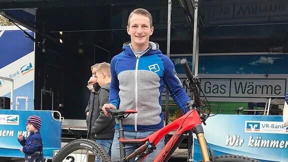 Der Bahnradsportler René Enders.
