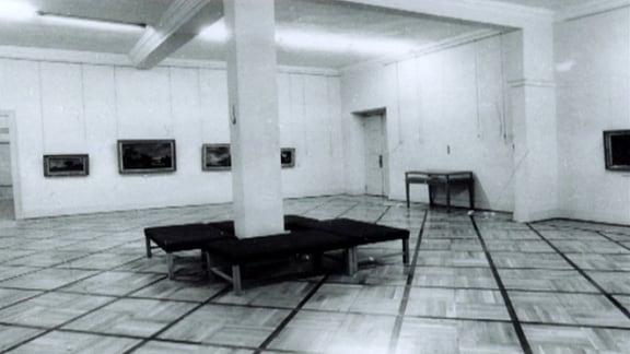 Der Raum im Schlossmuseum, aus dem die Gemälde gestohlen wurden.