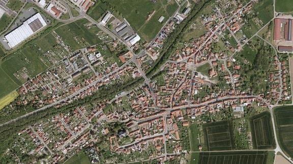 Luftbild vom Wechmar