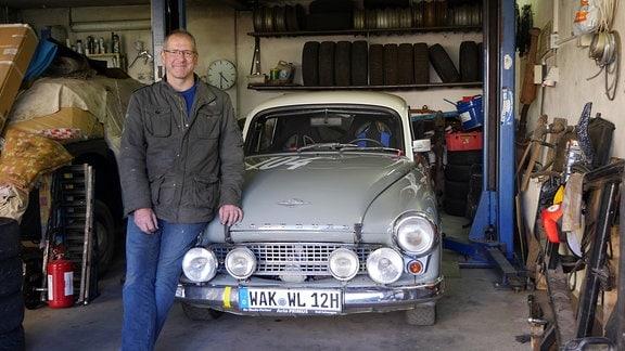 Holger Stracke aus Barchfeld und sein Wartbug 312