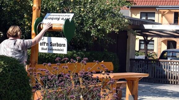 Die Mitfahrbank in Bad Liebenstein-Steinbach