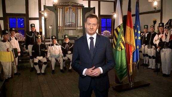 Neujahrsansprache von Ministerpräsident Michael Kretschmer