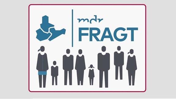 """Das Logo von MDR FRAGT mit der Aufschrift """"MDR FRAGT. Das Meinungsbarometer""""."""